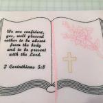 Custom - Open bible, rose, cross and verse