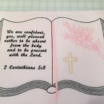Custom - Open bible, rose, cross and verse